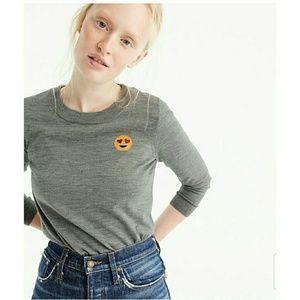 J Crew Merino Wool Tippi Sweater With Emoji Patch